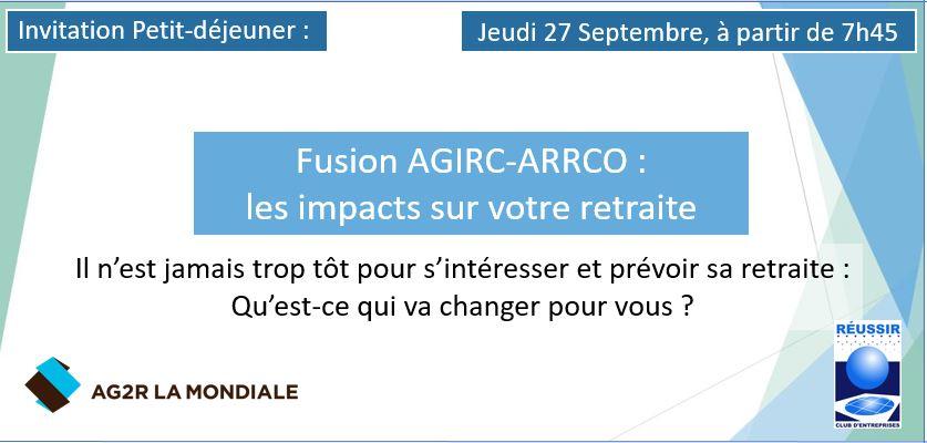 Petit-déjeuner 27/09 – Fusion AGIRC-ARRCO