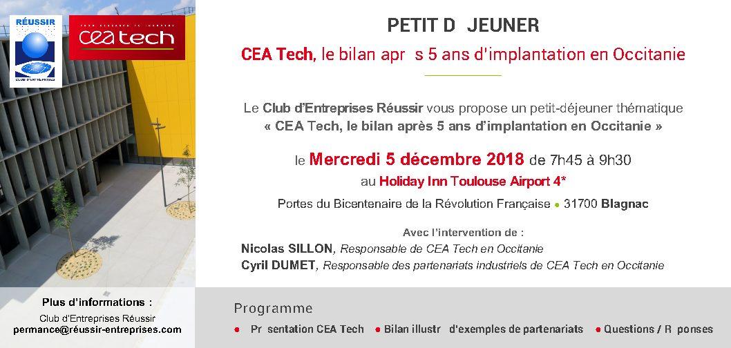 Petit Déjeuner CEA TECH – 5/12/2018