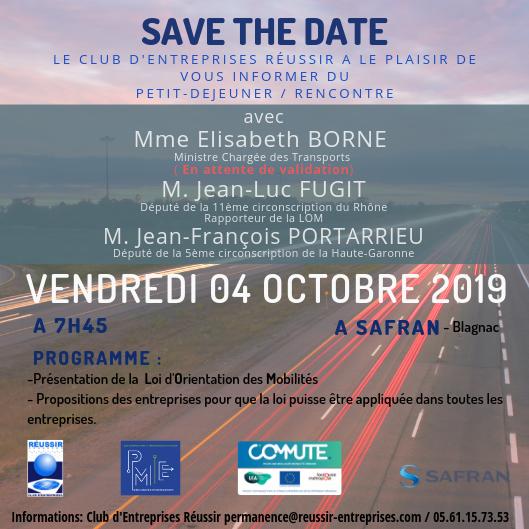 SAVE THE DATE – Petit-Déjeuener LOM – Vendredi 04 Octobre