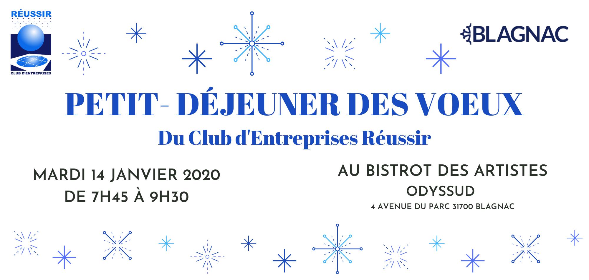 Petit-Déjeuner des Voeux du Club Réusssir – 14 Janvier 2020