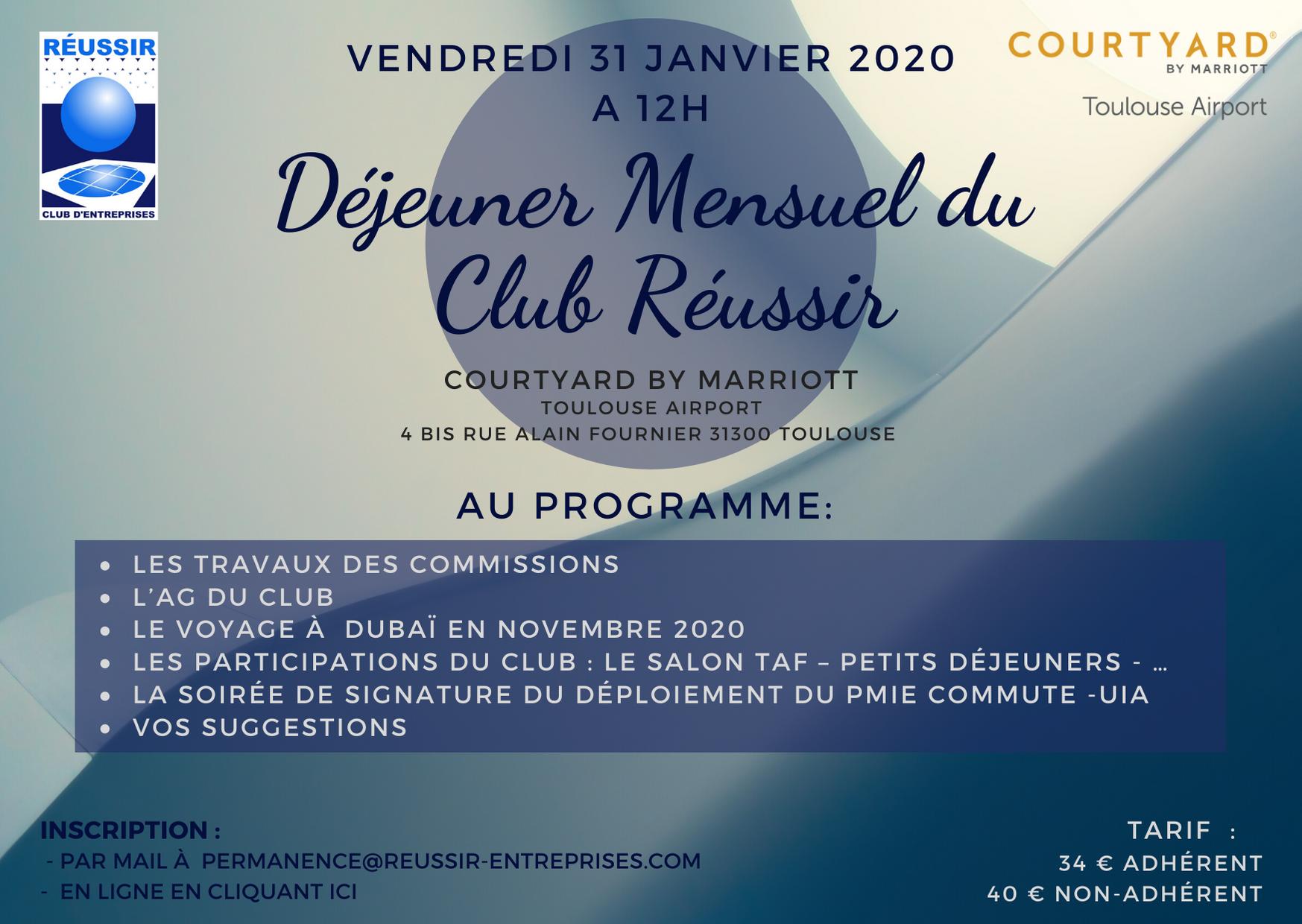 Déjeuner Réussir  – 31 Janvier 2020