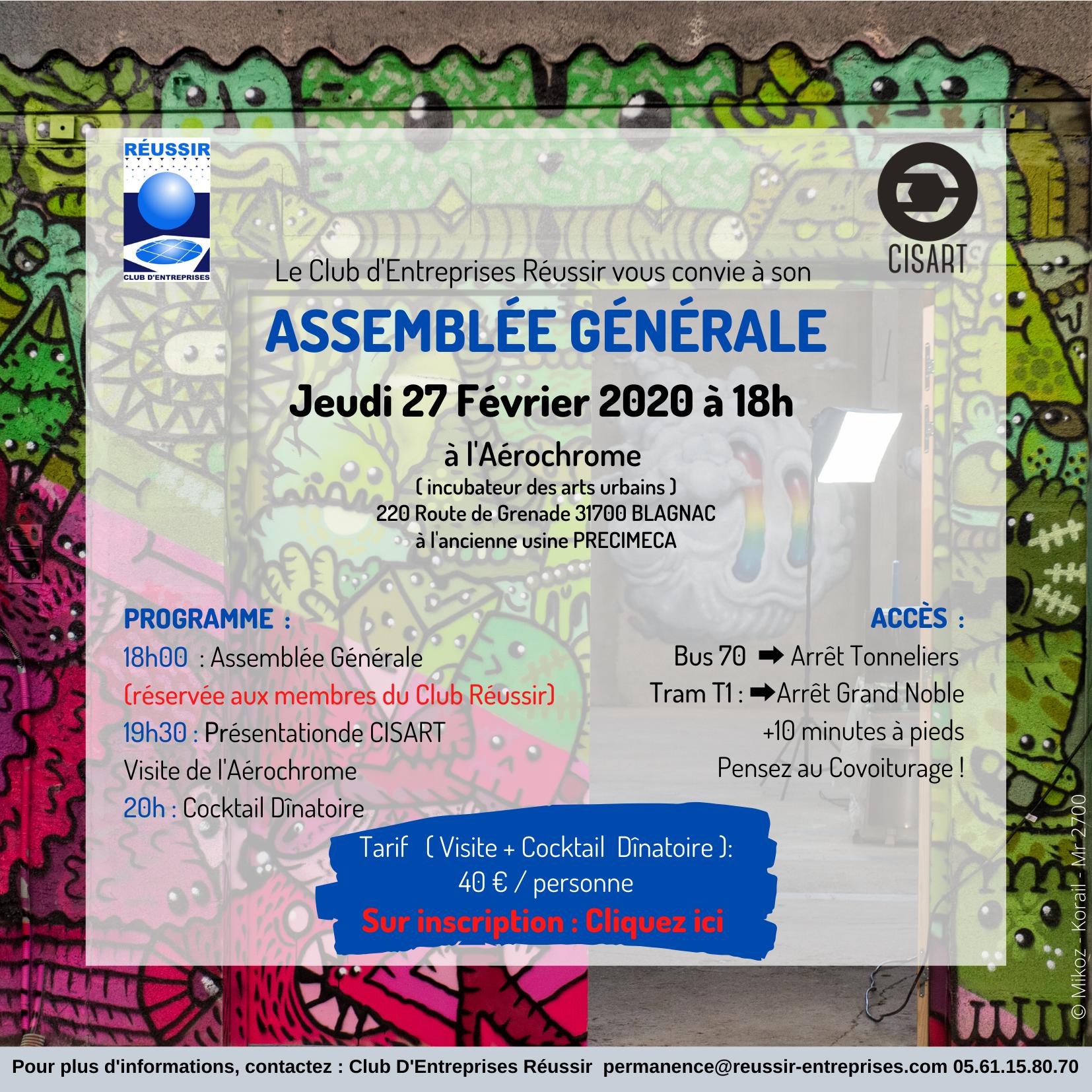 Assemblée Générale – Jeudi 27 Février 2020